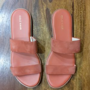 Cole haan tan suede leather sandals 6.5